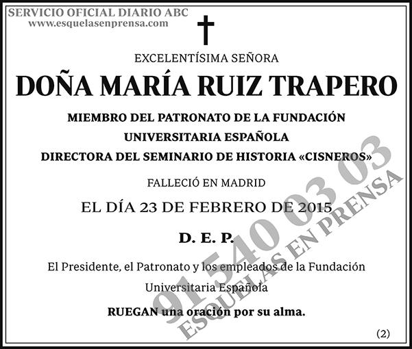 María Ruiz Trapero